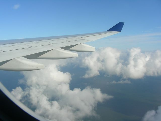flight over the Atlantic
