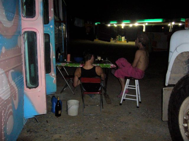 the nights at the Pemex stations