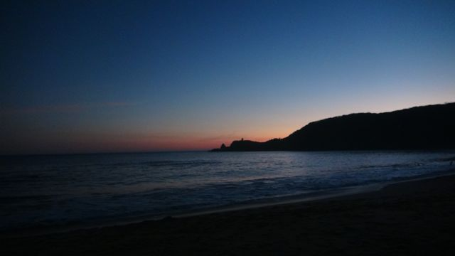 We arrived at the sunset in Mazunte
